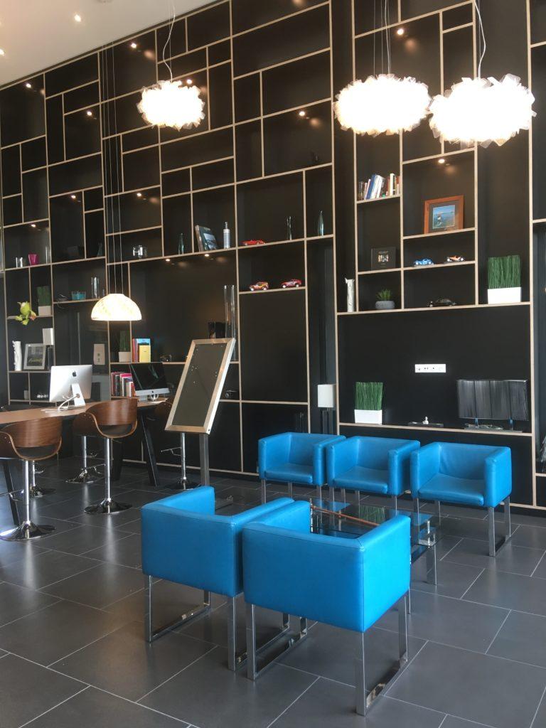 Zone accueil hôtel Brest Nord sonorisation Audac